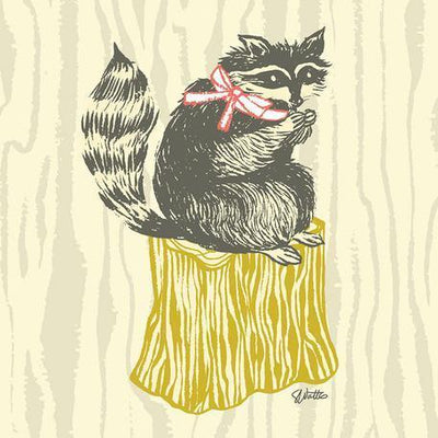 Perched Raccoon | Canvas Wall Art-Canvas Wall Art-Jack and Jill Boutique