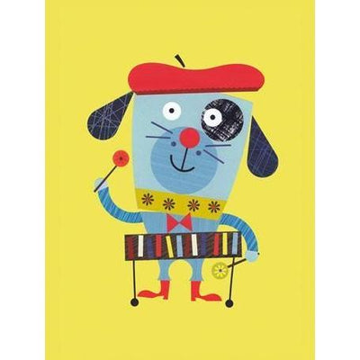 Percussion Puppy | Canvas Wall Art-Canvas Wall Art-Jack and Jill Boutique