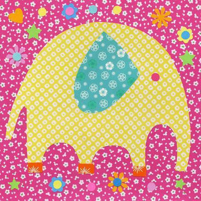 Perfectly Patterned Elephant | Canvas Wall Art-Canvas Wall Art-Jack and Jill Boutique