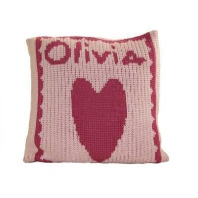 Single Heart and Name Personalized Pillow-Pillow-Default-Jack and Jill Boutique
