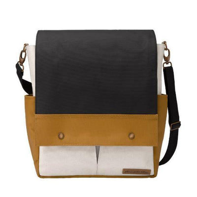 Boxy Backpack Diaper Bags | Petunia Pickle Bottom-Diaper Bags-Caramel/Black-Jack and Jill Boutique