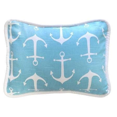 Pillow | Anchors Away in Aqua Nautical-Pillow-Jack and Jill Boutique