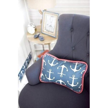 Pillow | Anchors Away in Navy Nautical-Pillow-Jack and Jill Boutique