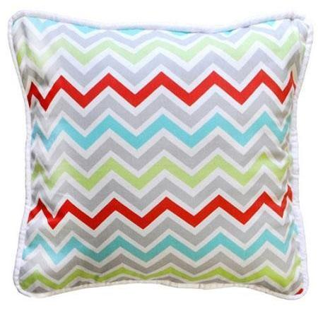 Pillow | Aqua Chevron Jellybean Parade-Pillow-Jack and Jill Boutique