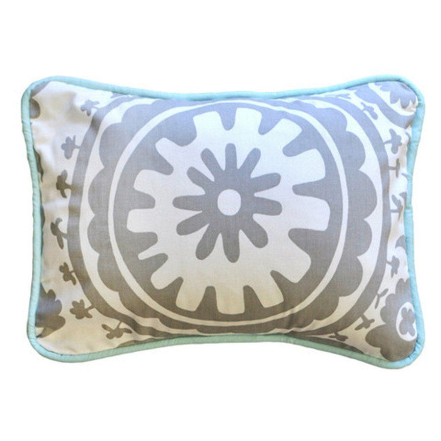 Pillow | Aqua & Gray Wink-Pillow-Jack and Jill Boutique
