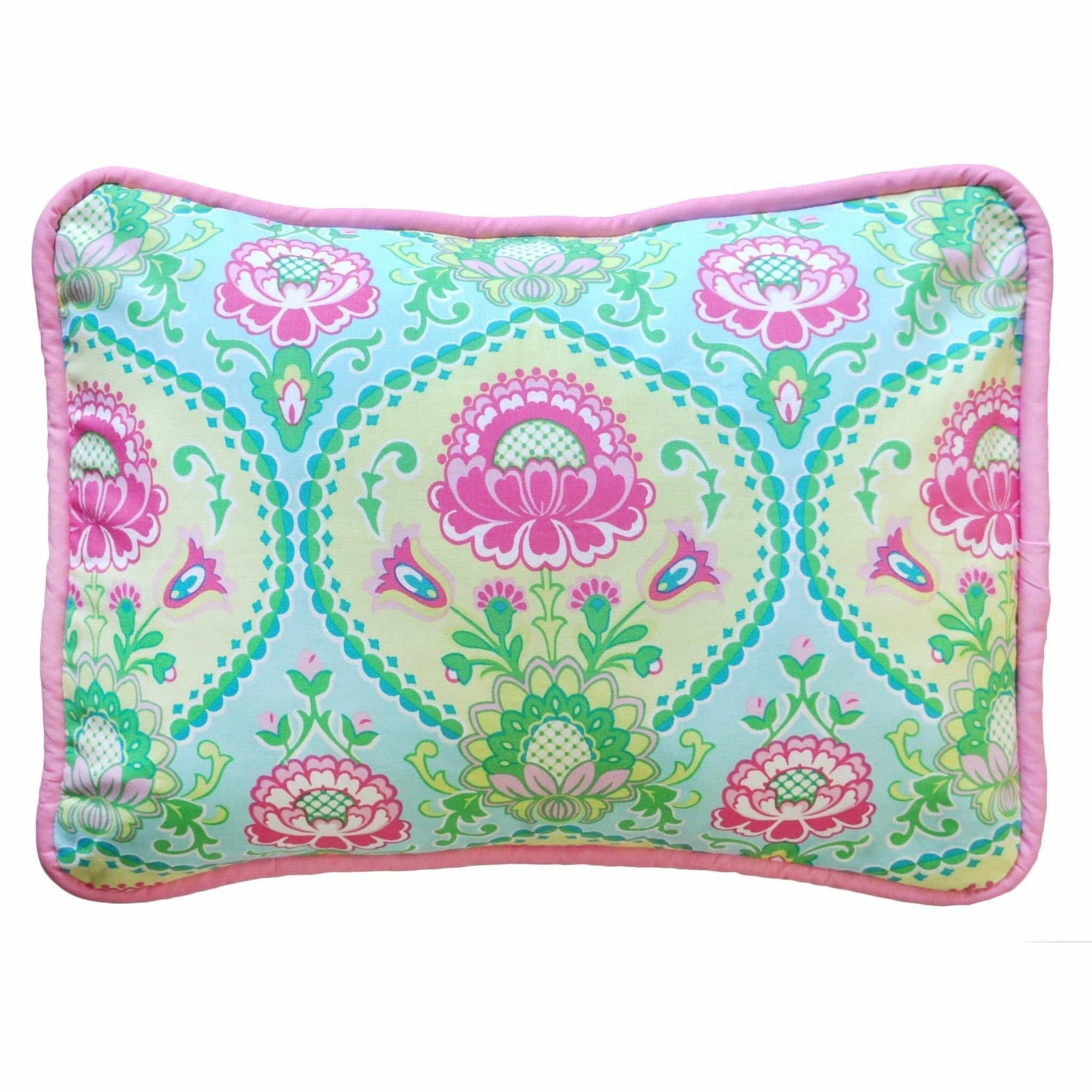 Pillow | Aqua & Pink Floral Layla Rose-Pillow-Jack and Jill Boutique