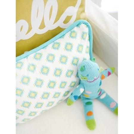 Pillow | Aztec Baby in Aqua-Pillow-Jack and Jill Boutique