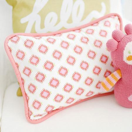 Pillow | Aztec Baby in Coral-Pillow-Jack and Jill Boutique