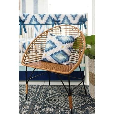 Pillow | Aztec Wander in Blue-Pillow-Jack and Jill Boutique