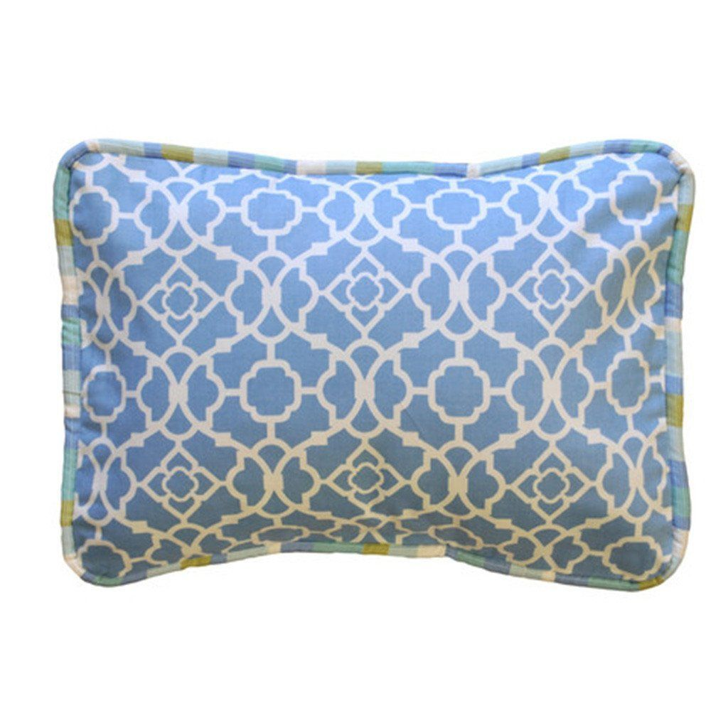 Pillow | By The Bay Baby Blue White and Green-Pillow-Jack and Jill Boutique
