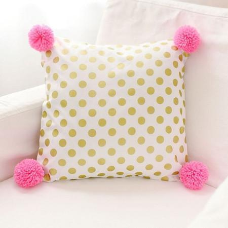 Pillow | Gold Polka Dot in Pink-Pillow-Jack and Jill Boutique