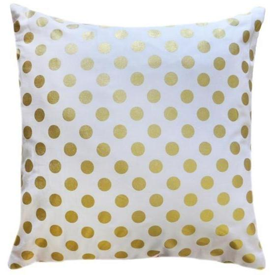 Throw Pillow Cover | Gold Polka Dot-Pillow-Jack and Jill Boutique