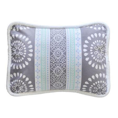 Pillow | Gray & Aqua Harper in Aqua-Pillow-Jack and Jill Boutique