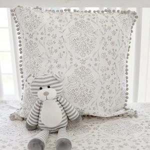 Pillow | Gray Bunny Love-Pillow-Jack and Jill Boutique