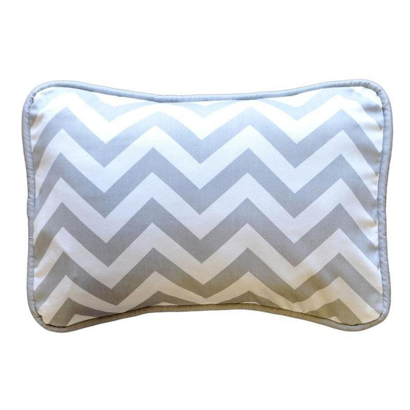 Pillow | Gray Chevron Zig Zag Baby