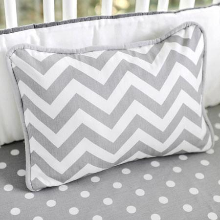 Pillow-Jack and Jill Boutique-Pillow | Gray Chevron Zig Zag Baby