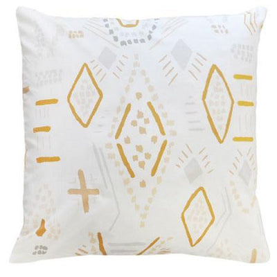 Pillow | Gray & Gold Tribal Head West-Pillow-Jack and Jill Boutique