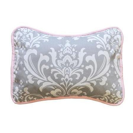 Pillow | Gray & Hot Pink Damask Wisteria