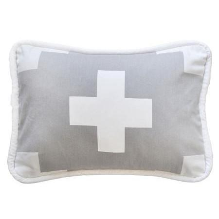 Pillow | Gray Swiss Cross