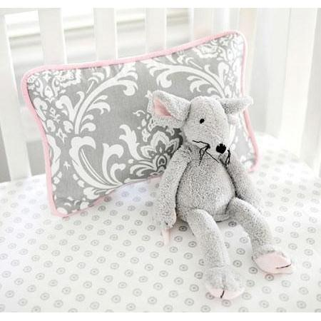 Pillow | Lavender & Gray Damask Wisteria in Lavender