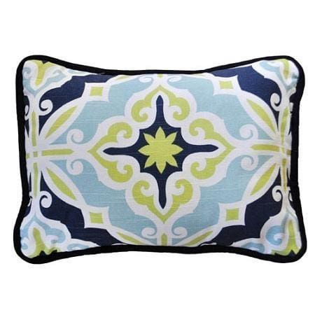 Pillow | Lime Green & Navy Starburst in Kiwi-Throw Pillow-New Arrivals-Jack and Jill Boutique