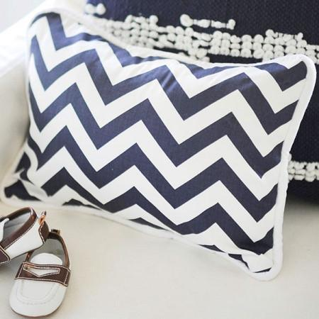 Pillow | Navy Chevron-Pillow-Jack and Jill Boutique