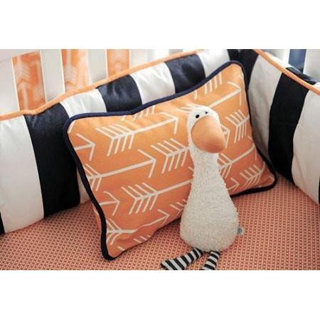 Pillow | Orange & Navy Arrow Out & About-Pillow-Jack and Jill Boutique