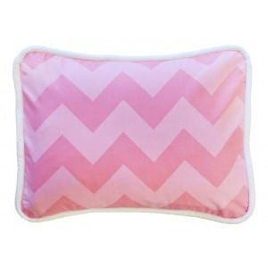 Pillow | Pink Chevron Zig Zag Baby in Pink Sugar-Pillow-Jack and Jill Boutique