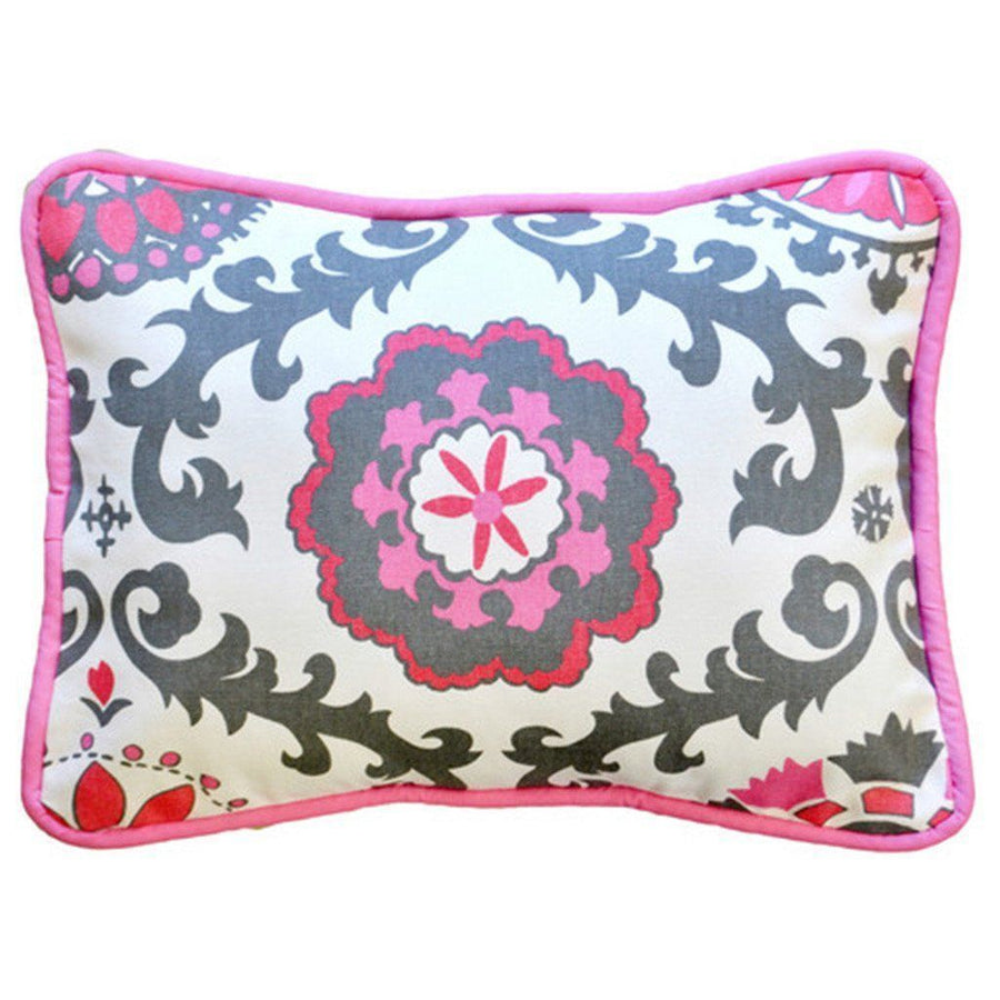 Pillow | Ragamuffin in Pink Pink and Gray