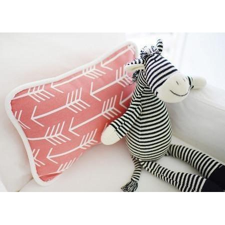 Pillow | Wanderlust in Coral White and Coral-Pillow-Jack and Jill Boutique