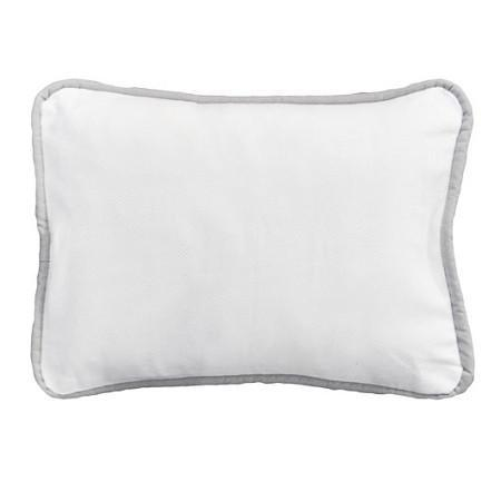Pillow-Jack and Jill Boutique-Pillow | White Pique with Gray Trim