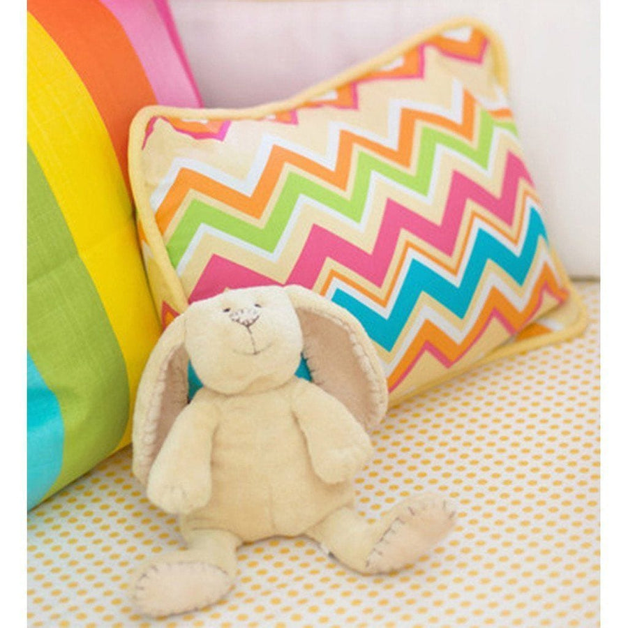 Pillow | Yellow & Pink Chevron Sunnyside Up