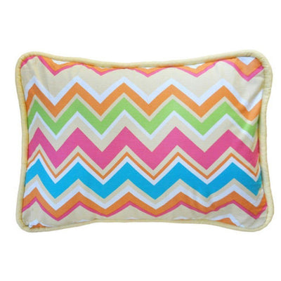 Pillow | Yellow & Pink Chevron Sunnyside Up-Pillow-Jack and Jill Boutique