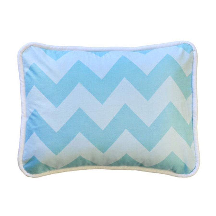 Pillow | Zig Zag Baby in Aqua