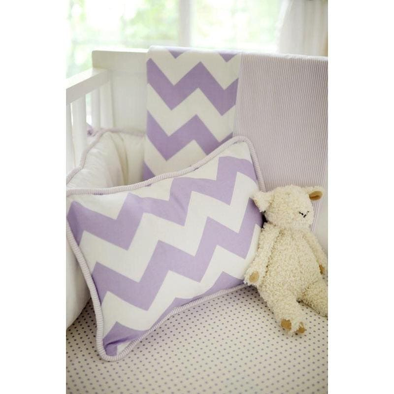 Pillow | Zig Zag Baby in Lavender-Pillow-Default-Jack and Jill Boutique