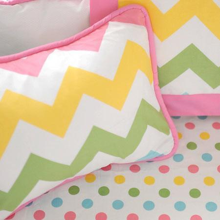 Pillow | Zig Zag Baby in Rainbow-Pillow-Jack and Jill Boutique
