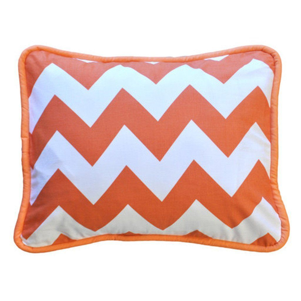 Pillows For Nursery Kids Pillows Designer Pillows Tagged Zig Zag Baby In Tangerine Crib Bedding Collection Jack And Jill Boutique
