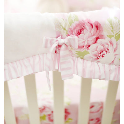 Pink Floral Desert Rose | Crib Bedding Set-Crib Bedding Set-Default-Jack and Jill Boutique