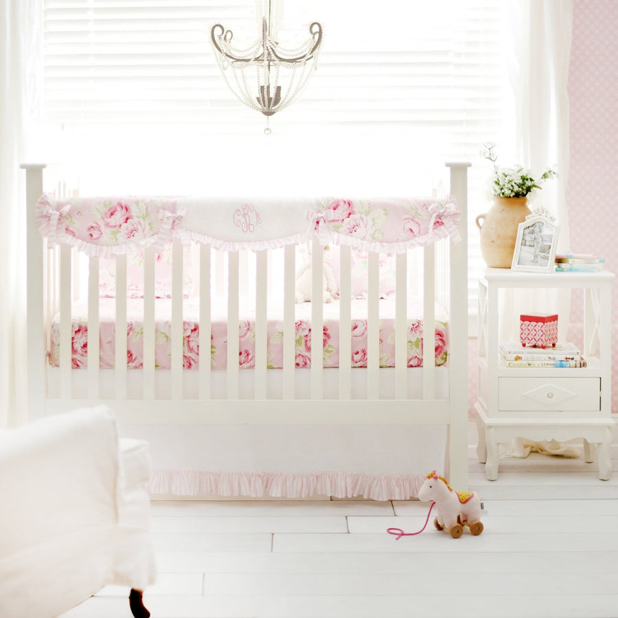 Pink Floral Desert Rose Crib Bedding Set Crib Bedding Set Default Jack