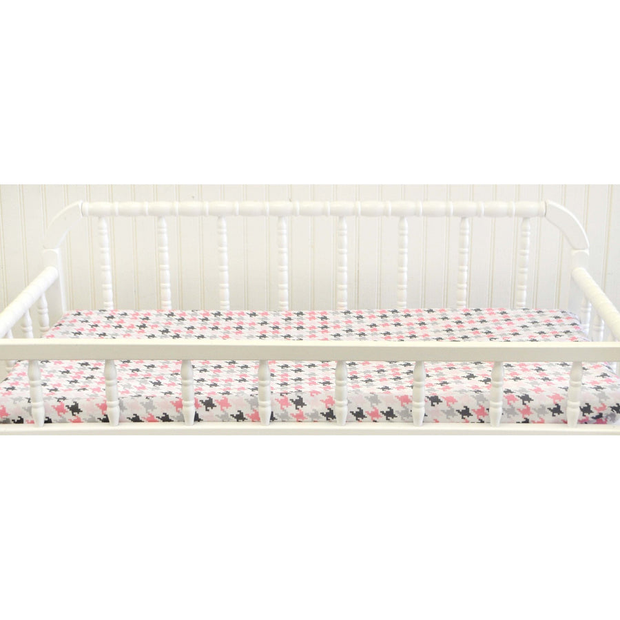 Pink & Gray Paper Moon Baby Bedding Set