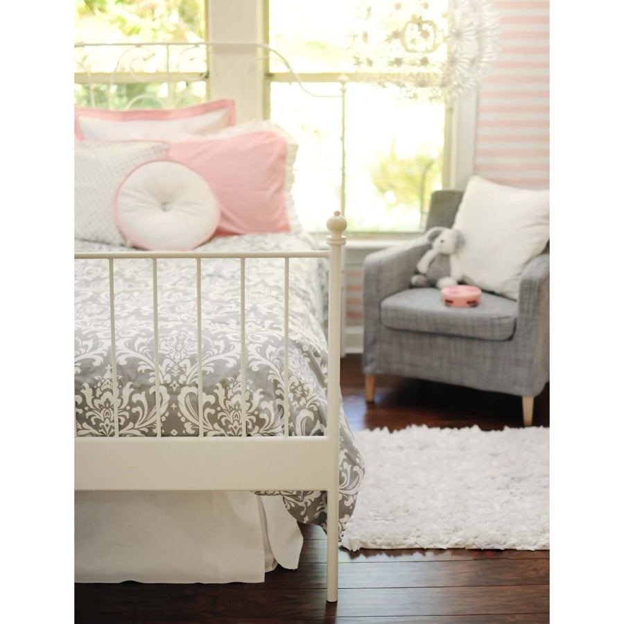 Pink & Gray Stella Gray Baby Bedding Set