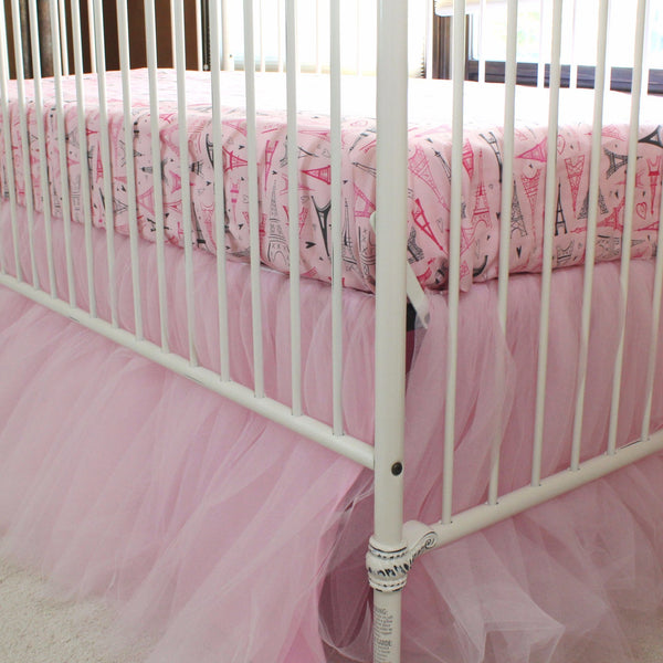 Pink Tulle Gathered Skirt Paris Baby Bedding Jack And