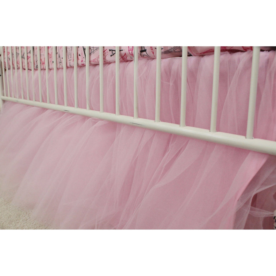 Pink Tulle Gathered Skirt | Paris Baby Bedding-Crib Bedding Set-Default-Jack and Jill Boutique