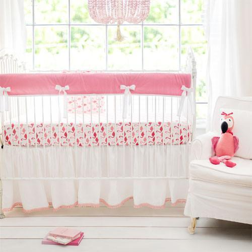 Pink Urban Flamingo Baby Bedding Set-Crib Bedding Set-Jack and Jill Boutique