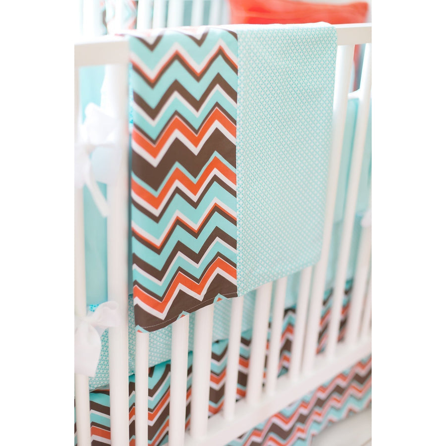 Piper in Aqua Baby Bedding Set-Crib Bedding Set-Default-Jack and Jill Boutique