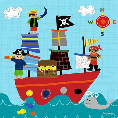 Pirate Ship Playtime | Canvas Wall Art-Canvas Wall Art-Jack and Jill Boutique