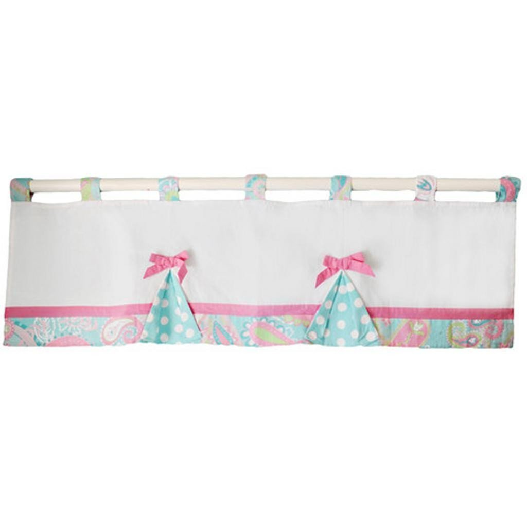 Pixie Baby in Aqua Curtain Valance-Curtain Valance-pink, aqua-Jack and Jill Boutique
