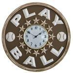 Play Ball Baseball Wall Clock-Wall Clock-Jack and Jill Boutique
