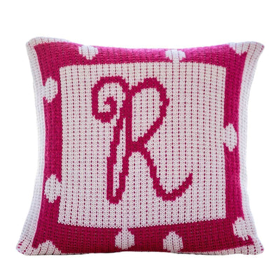 Polka Dot Border Personalized Pillow-Pillow-Default-Jack and Jill Boutique