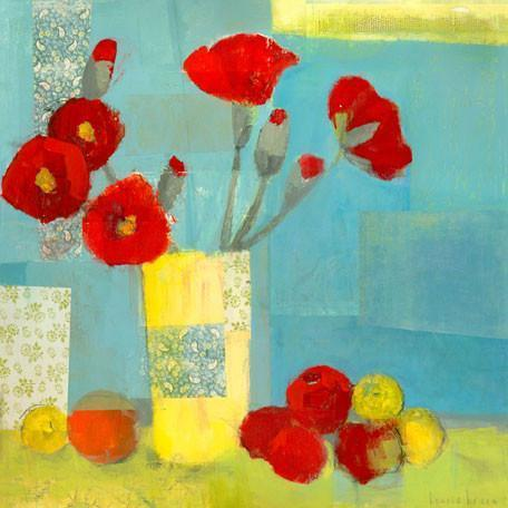 Poppies in Yellow Vase | Canvas Wall Art-Canvas Wall Art-Jack and Jill Boutique